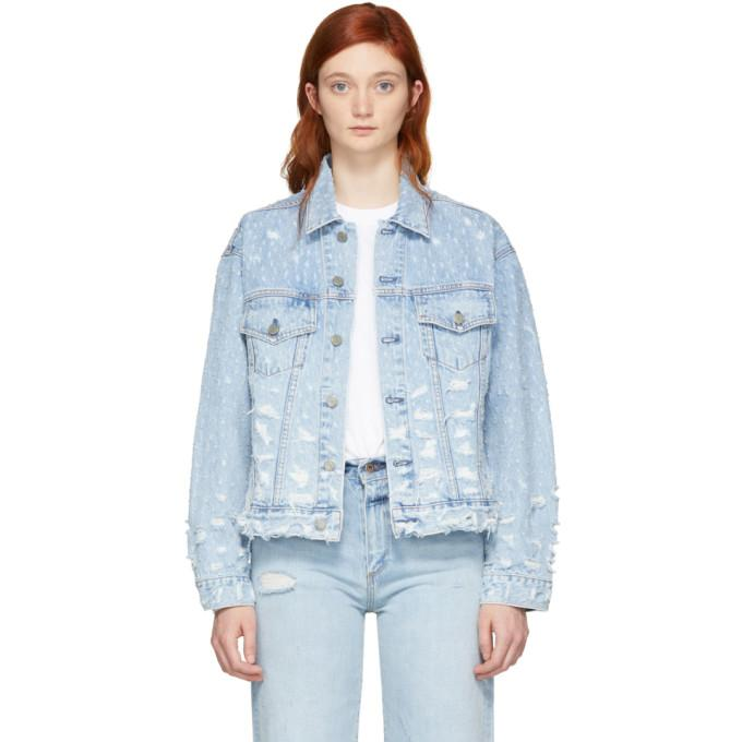 Grlfrnd Blue Denim Kim Jacket-Jackets & Coats-BLACKSKINNY.COM