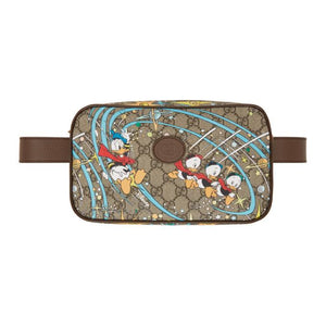 Gucci Beige and Brown Disney Edition GG Donald Duck Waist Pouch