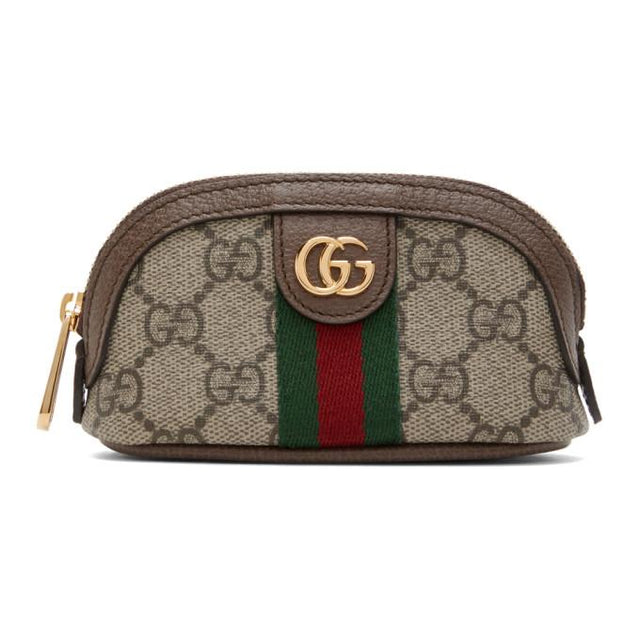 Gucci Beige GG Ophidia Coin Pouch