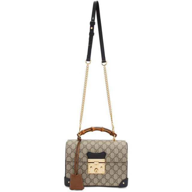 Gucci Beige Small GG Supreme Padlock Bag