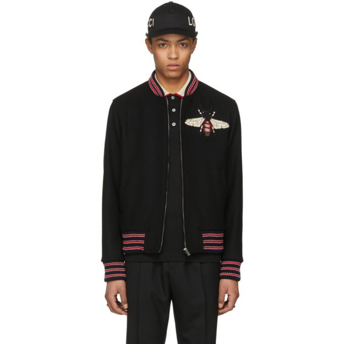Gucci Black Bee Bomber Jacket-BlackSkinny