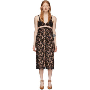 Gucci Black Flower Lace Shell Dress