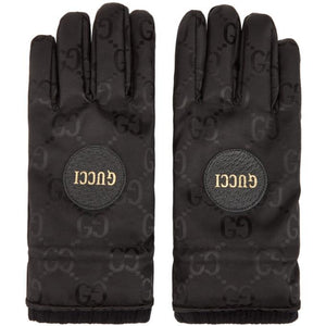 Gucci Black GG Monogram Gloves