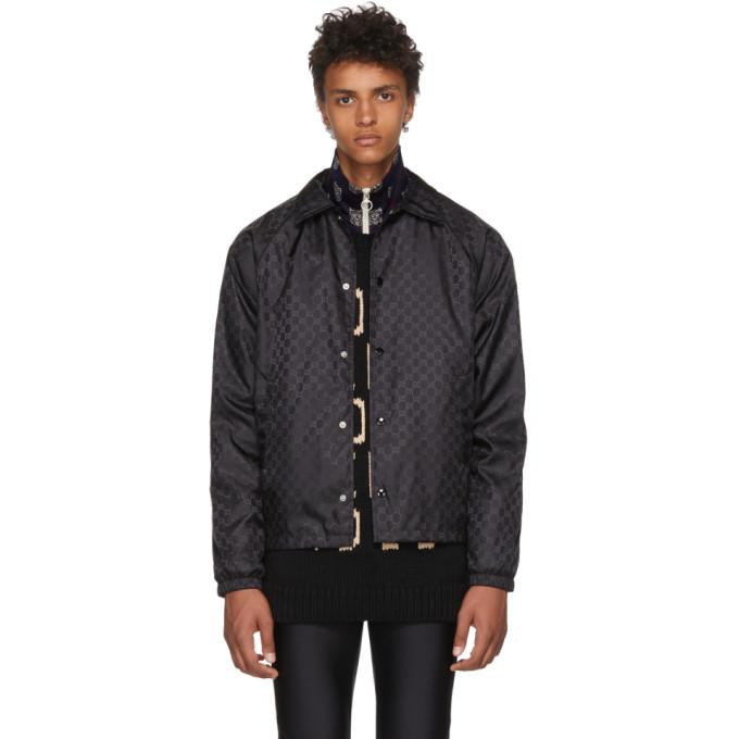 Gucci Black GG Supreme Windbreaker-BlackSkinny
