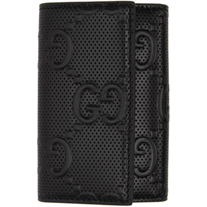 Gucci Black Gucci Signature Key Wallet