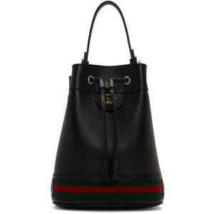 Gucci Black Ophidia Bucket Bag