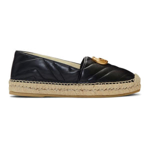 Gucci Black Quilted Charlotte Espadrilles