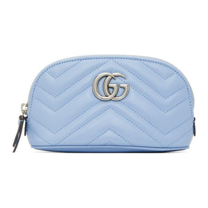 Gucci Blue Small GG Marmont 2.0 Cosmetic Pouch
