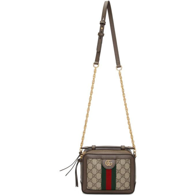 Gucci Brown Mini GG Ophidia Shoulder Bag