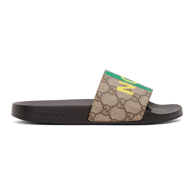 Gucci Brown Not Fake GG Sandals