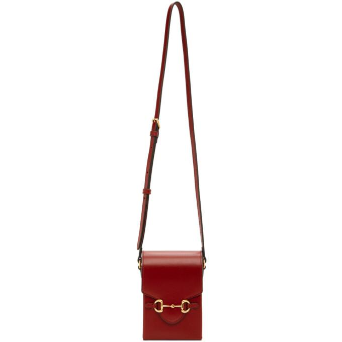 Gucci Burgundy Mini Gucci 1955 Horsebit Pouch