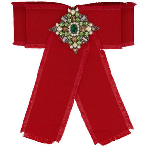 Gucci Red Ribbon Brooch
