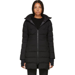 Herno Black Fitted Puffer Coat-BlackSkinny