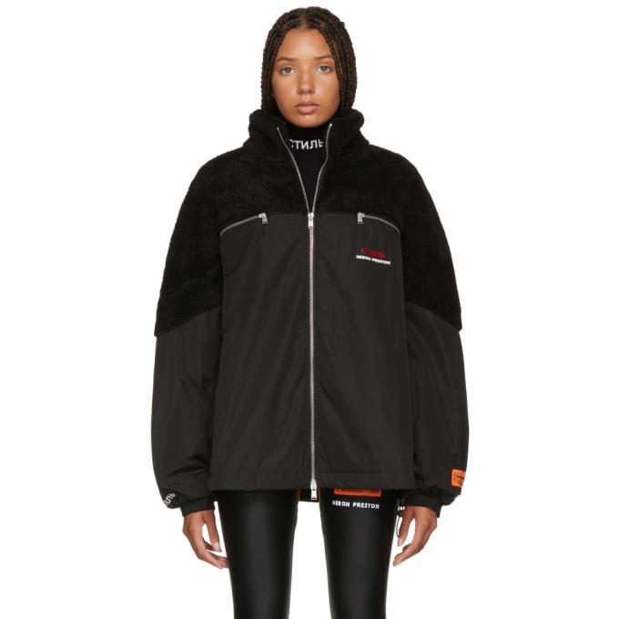 Heron Preston Black Polar Fleece 'Style' Jacket-BlackSkinny