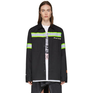 Heron Preston Black Reflective Shirt Jacket-BlackSkinny