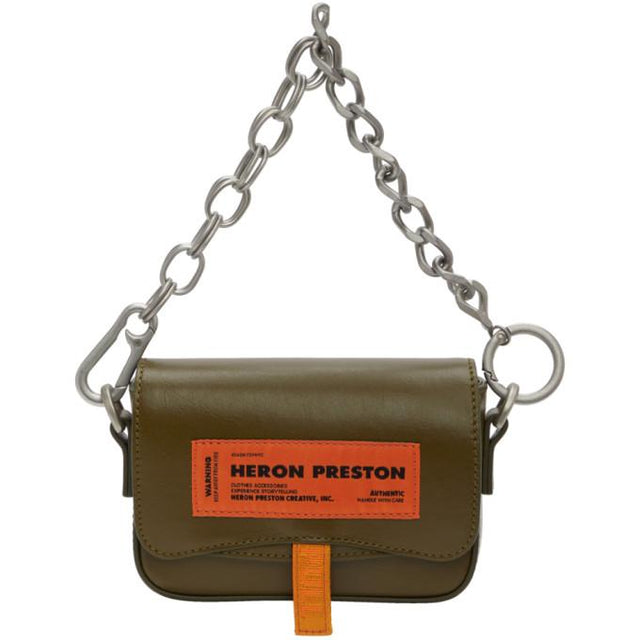Heron Preston Khaki Mini Canal Bag