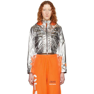 Heron Preston Silver 'Style' Cropped Jacket-BlackSkinny