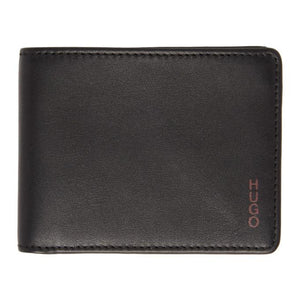 Hugo Black and Burgundy Subway 6-Pocket Bifold Wallet