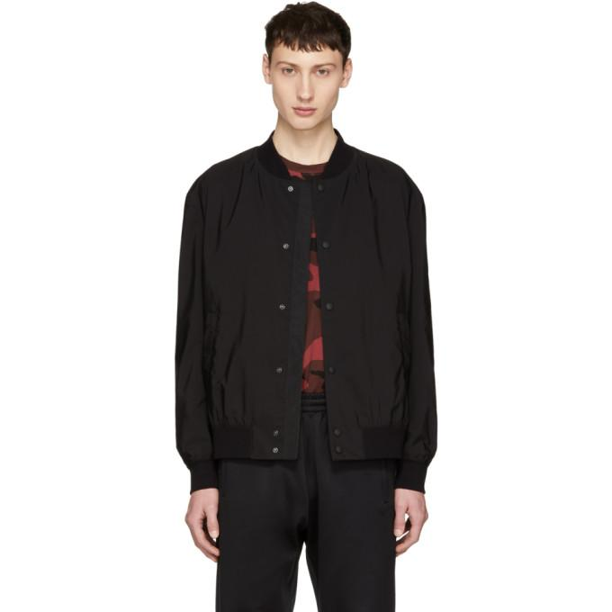 Hugo Black Boris 1831 Bomber Jacket-BlackSkinny