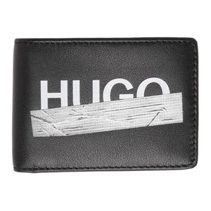 Hugo Black Tape 6-Pocket Bifold Wallet
