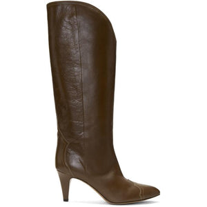 Isabel Marant Brown Shiny Lestan Boots
