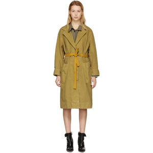 Isabel Marant Etoile Brown Laurel Long Cotton Coat-Jackets & Coats-BLACKSKINNY.COM