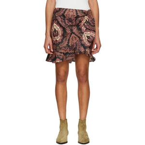 Isabel Marant Multicolor Mouna Tahatal Coated Skirt-BLACKSKINNY.COM