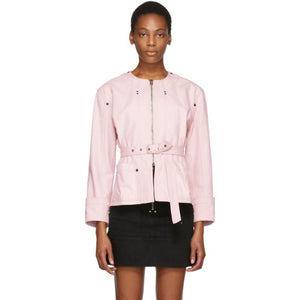 Isabel Marant Pink Nadia Chic Denim Jacket-BlackSkinny