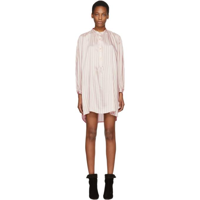 Isabel Marant Pink Striped Idoa Dress-BLACKSKINNY.COM