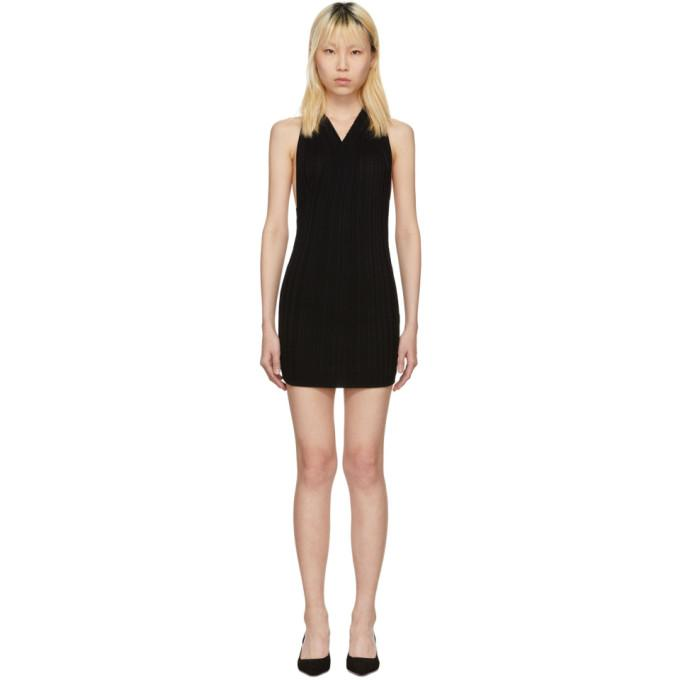 Jacquemus Black 'La Maille Drapeado Longue' Dress-BLACKSKINNY.COM