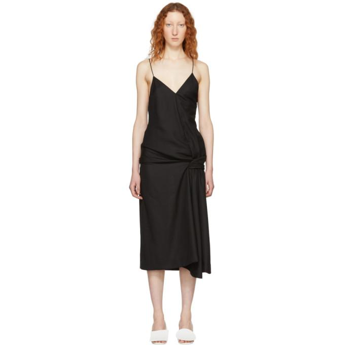 Jacquemus Black 'La Robe Samba' Dress-BLACKSKINNY.COM