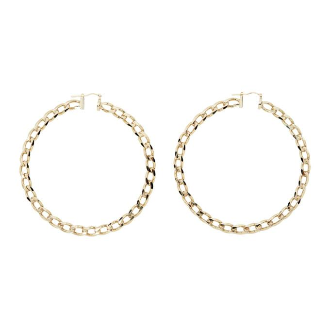 Jacquemus Gold Les Creoles Gourmette Hoop Earrings