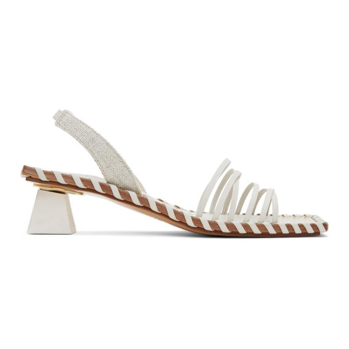 Jacquemus Off-White Les Sandales Valerie Heeled Sandals