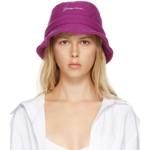 Jacquemus Pink Wool Le Bob Bucket Hat