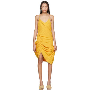 Jacquemus Yellow 'La Robe Coracao' Dress-BLACKSKINNY.COM