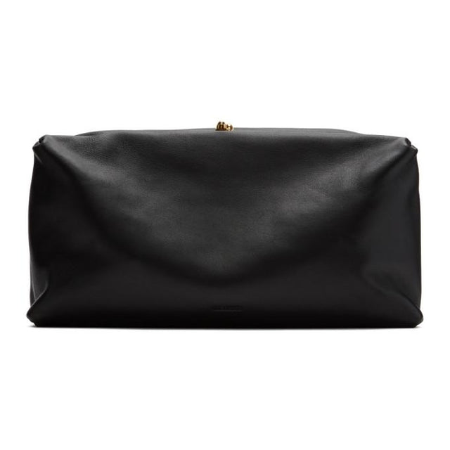 Jil Sander Black Small Goji Clutch