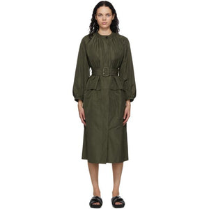 Jil Sander Khaki Belted Dress
