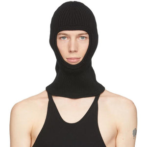 Judy Turner Black Knit Wool Oli Ski Mask