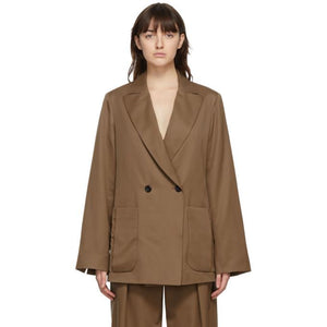 Julia Jentzsch Brown Wool Yavi Blazer