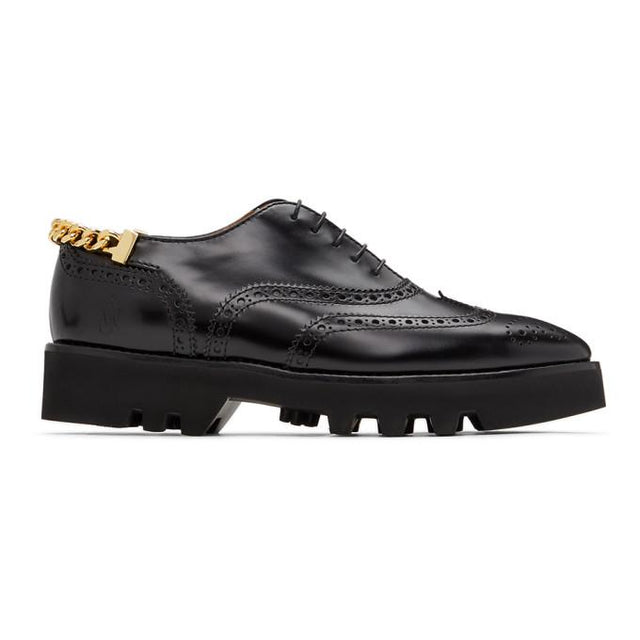 JW Anderson Black Curb Chain Master Loafers