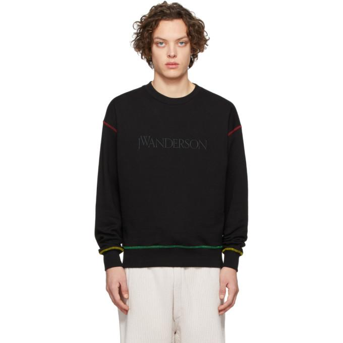 JW Anderson Black Embroidered Logo Sweatshirt