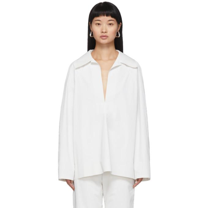 KASSL Editions SSENSE Exclusive White Pop Oil Shirt