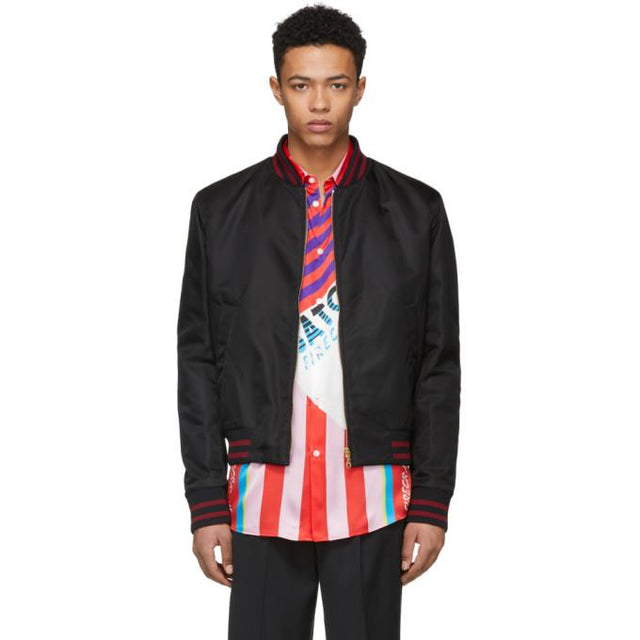 Kenzo Black Limited Edition Chinese New Year Tiger Bomber Jacket-BlackSkinny