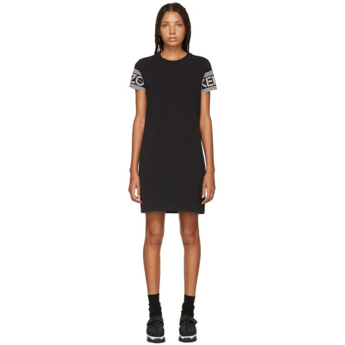 Kenzo Black Logo Sport T-Shirt Dress-BLACKSKINNY.COM