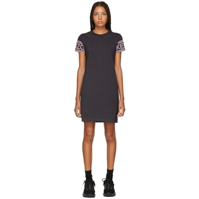 Kenzo Grey Logo Sport T-Shirt Dress-BLACKSKINNY.COM