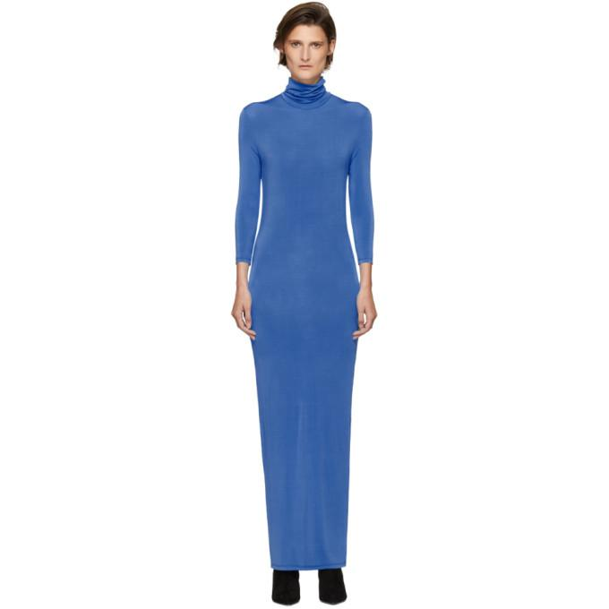 Kwaidan Editions Blue Underpinnings Turtleneck Dress-BLACKSKINNY.COM