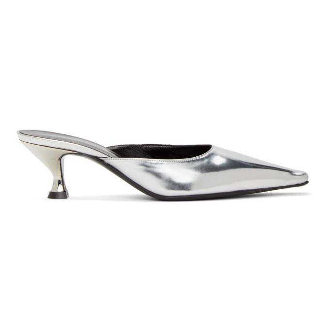 Kwaidan Editions Metallic Pointy Toe Kitten Heel Mule