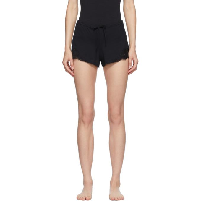 La Perla Black Cotton Sleep Shorts