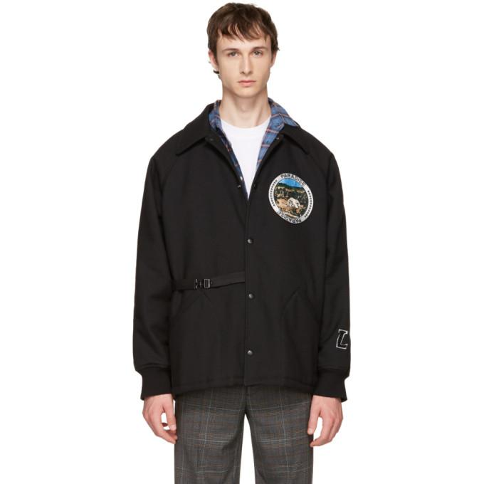 Lanvin Black 'Paradise' Patch Jacket-BlackSkinny