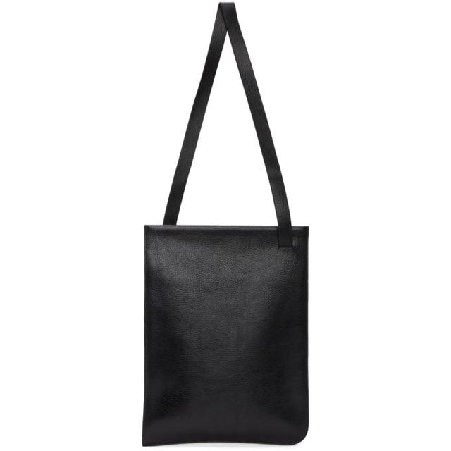Lemaire Black Leather Tote